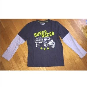 Jumping Beans Super Racer Truck Gray Shirt XL 7X